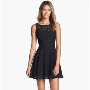 BB Dakota Lace Skater Mini Dress